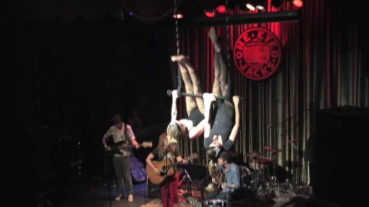 Mystic Pony Aerial Troupe and Shovels & Rope live performance